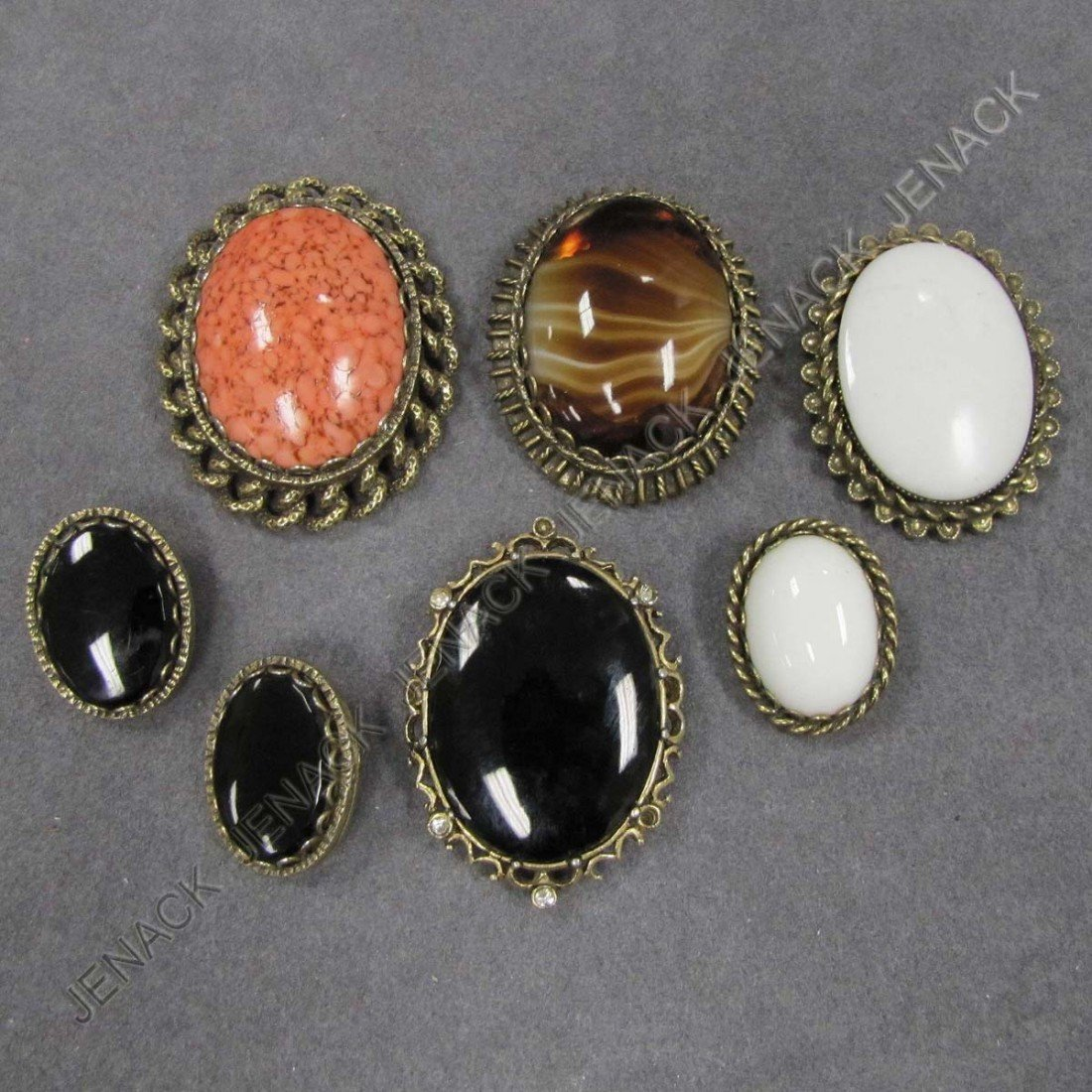 16: LOT (6) BROOCHES AND EARRINGS, SIGNED
