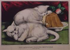 1081: CURRIER AND IVES HAND COLORED LITHOGRAPH