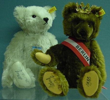 1007: LOT (2) STEIFF TEDDY BEARS WITH TAGS