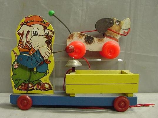 1008: LOT 2 PULL TOYS INCLUDING FISHER PRICE
