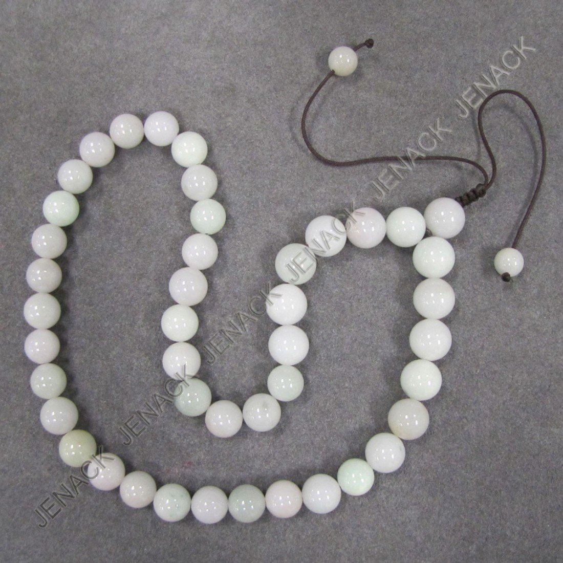 1: CHINESE CARVED JADEITE NECKLACE