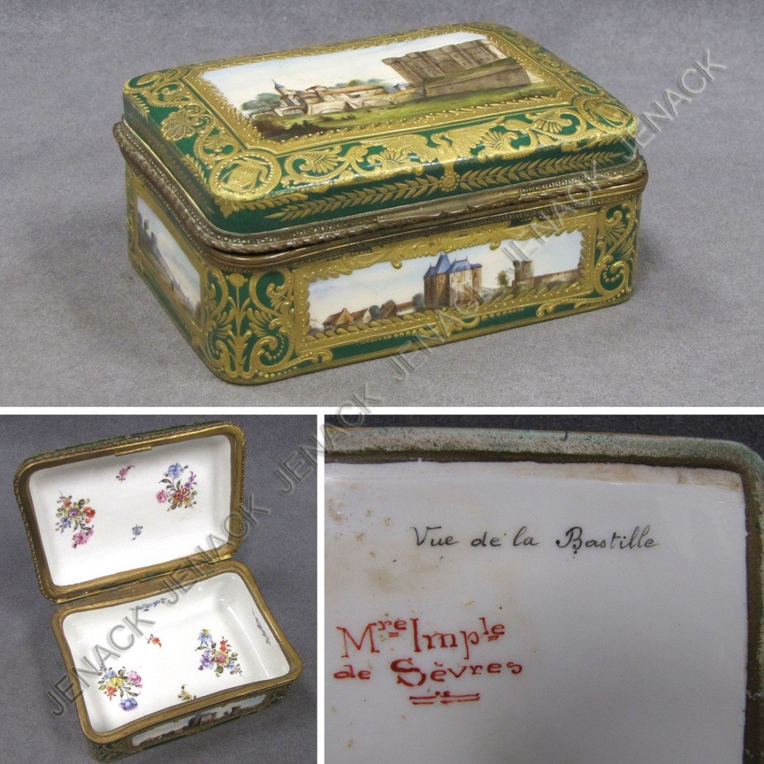 2: SEVRES GILT DECORATED PORCELAIN COVERED BOX