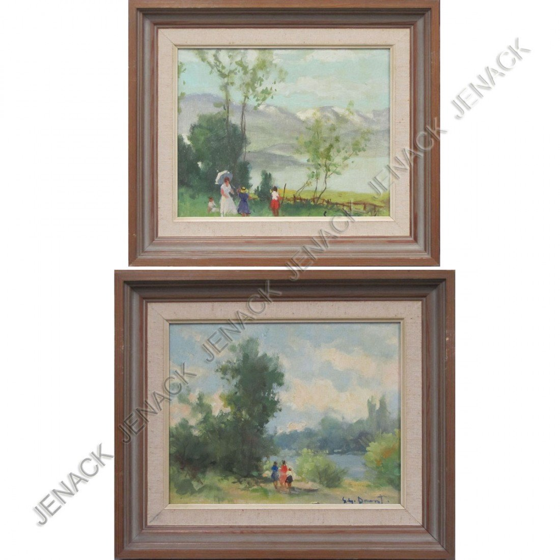18: SUZANNE DEMAREST (FRENCH 1900-1985), LOT (2) OIL