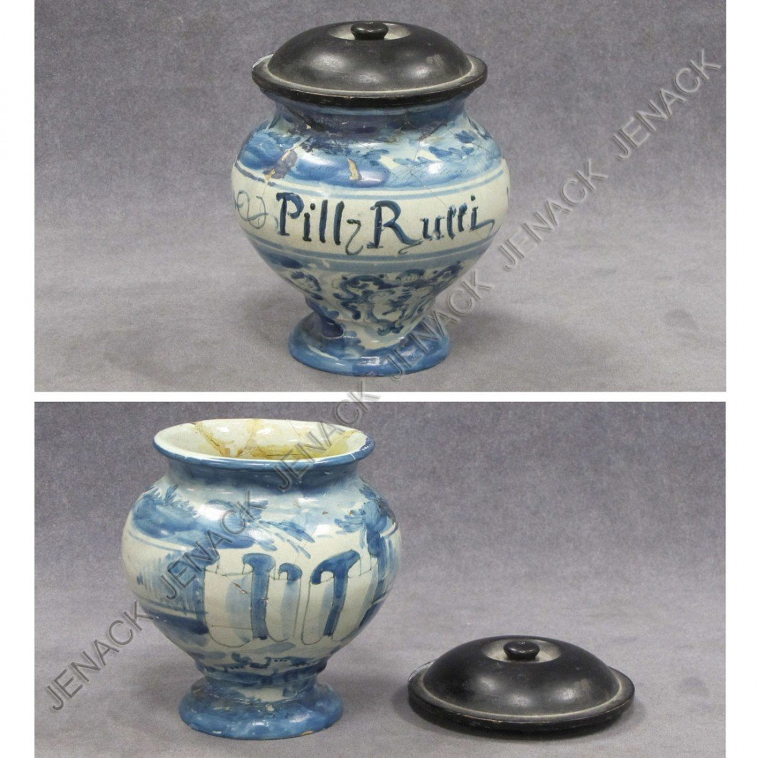 4: ITALIAN FAIENCE DRUG JAR, 18TH CENTURY