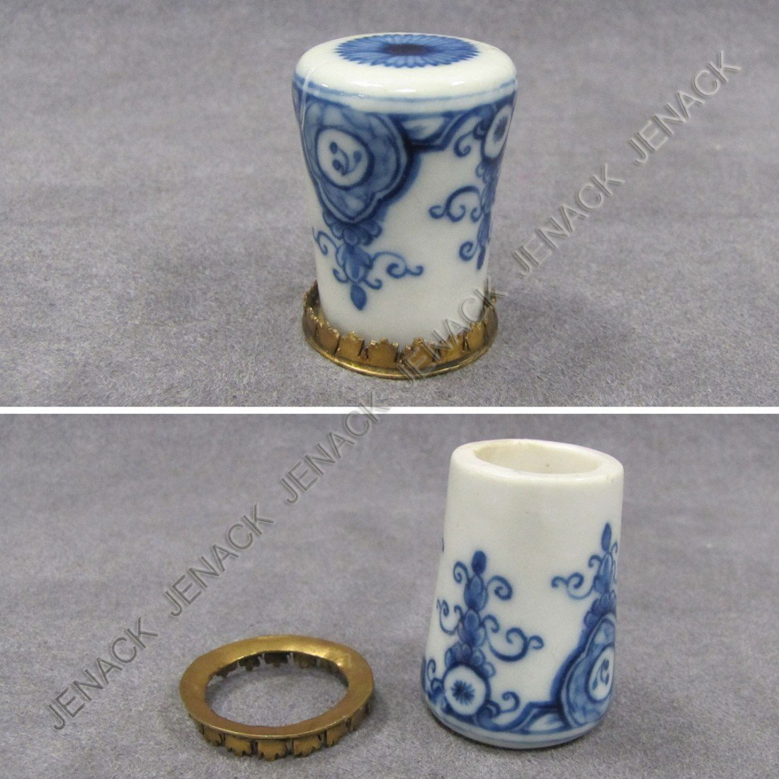 6: RARE ST. CLOUD PORCELAIN CANE HANDLE