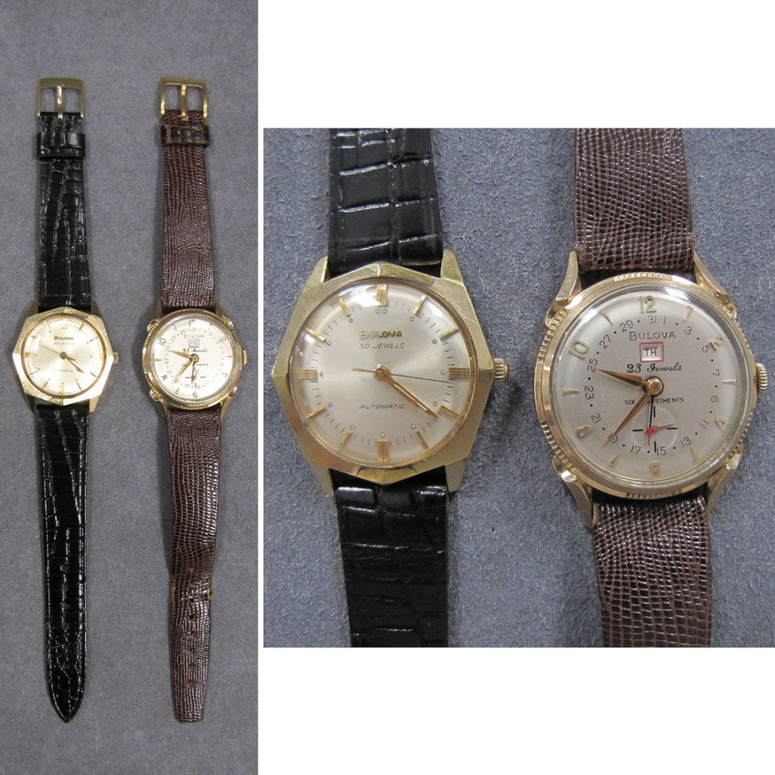 13: LOT (2) VINTAGE BULOVA GOLD FILLED WRISTWATCHES