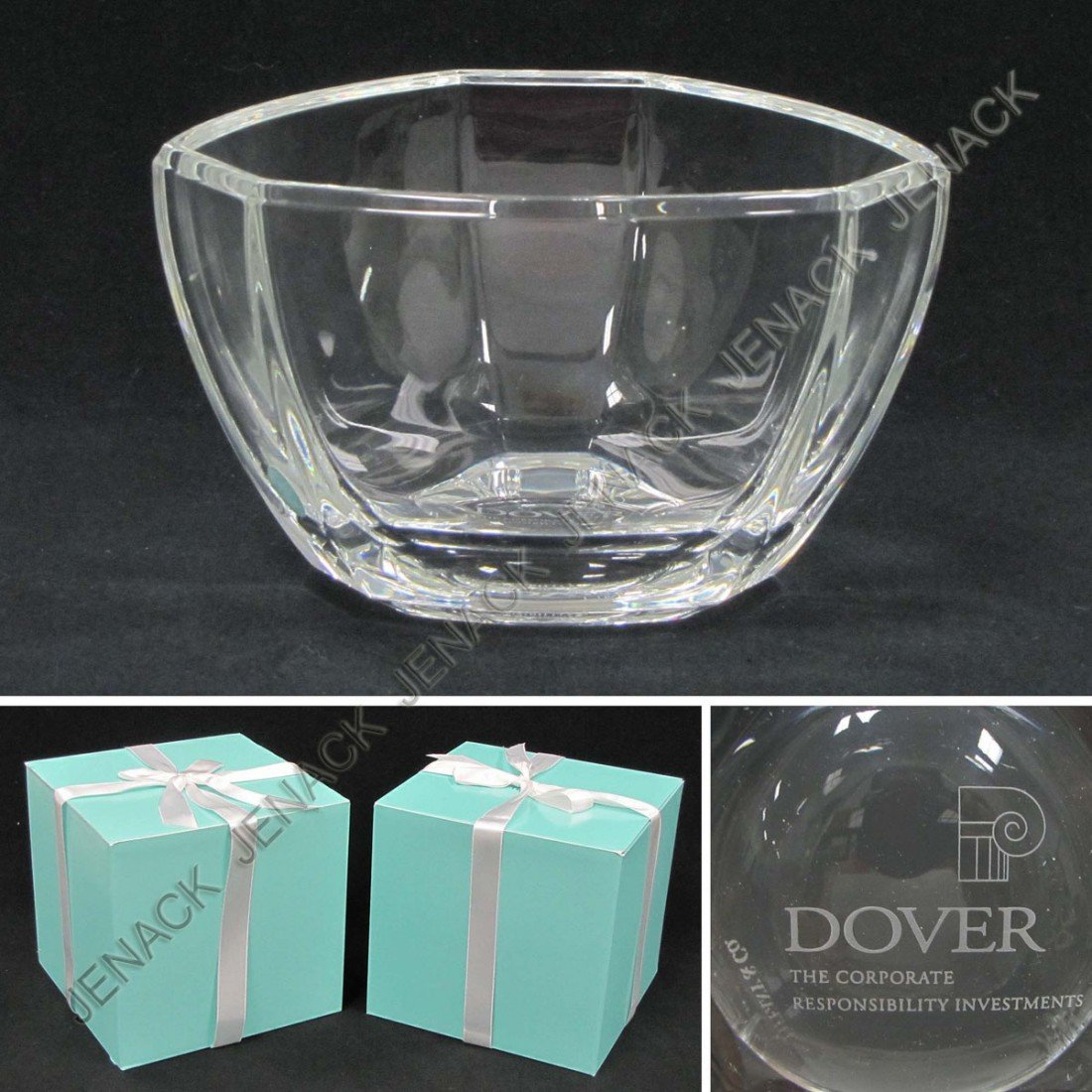 14: LOT (2) TIFFANY & CO CRYSTAL PRESENTATION BOWLS