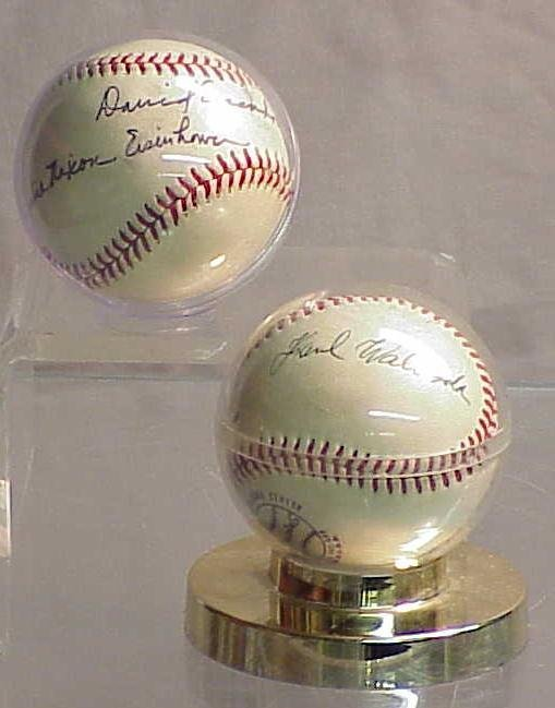 2005: LOT (2) AUTOGRAPHED BALLS