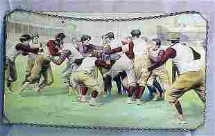 VINTAGE FOOTBALL PRINT, C.1910