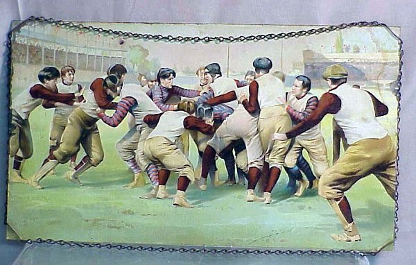 2011: VINTAGE FOOTBALL PRINT, C.1910