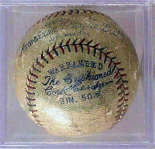 1920'S AMERICAN LEAGUE BALL-BABE RUTH