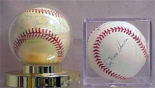 (2) AMERICAN LEAGUE AUTOGRAPHED BALLS