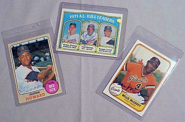 2020: LOT (3) AUTOGRAPHED BASEBALL CARDS