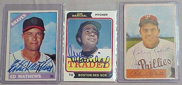2022: LOT (3) AUTOGRAPHED BASEBALL CARDS