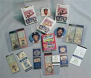 MATCHBOOK BASEBALL COVERS, DECK CARDS