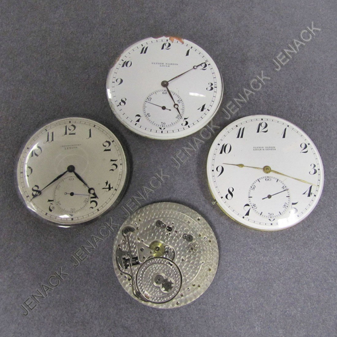 5: LOT (4) VINTAGE POCKET WATCH MOVEMENTS