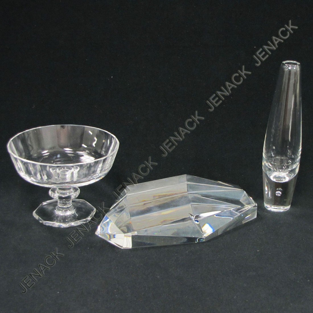 17: LOT (3) STEUBEN AND KOSTA CLEAR ART GLASS