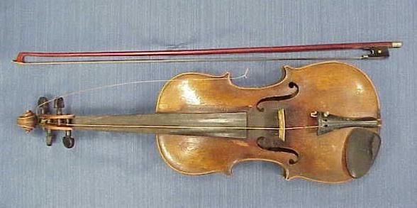 20: ANTIQUE GERMAN VIOLIN LABELED JACOBUS STAINER