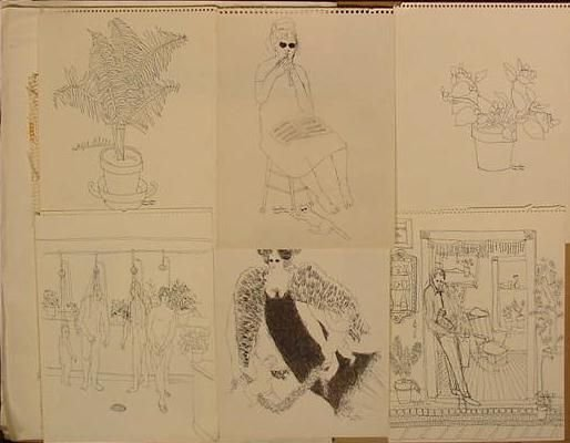 178: FOLIO (42) ASSORTED PAINTINGS/DRAWINGS, AMUNDSON