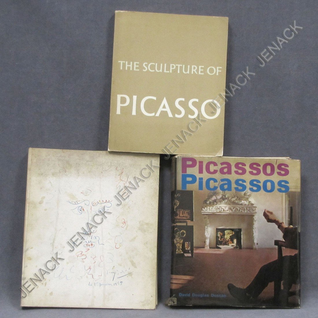 1: LOT (3) VOLUMES INCLUDING PABLO PICASSO DRAWINGS