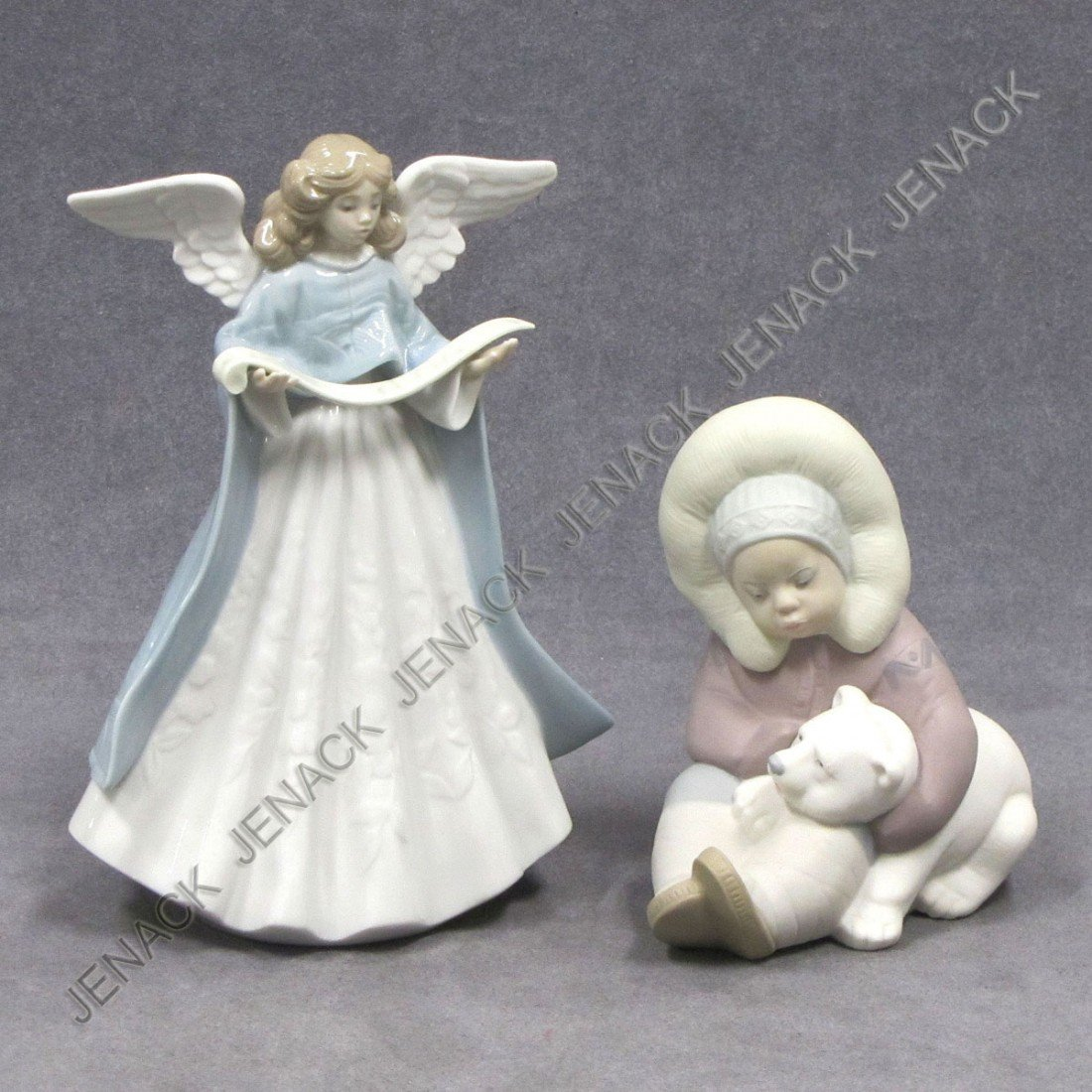 2: LOT (2) LLADRO PORCELAIN DECORATED FIGURES
