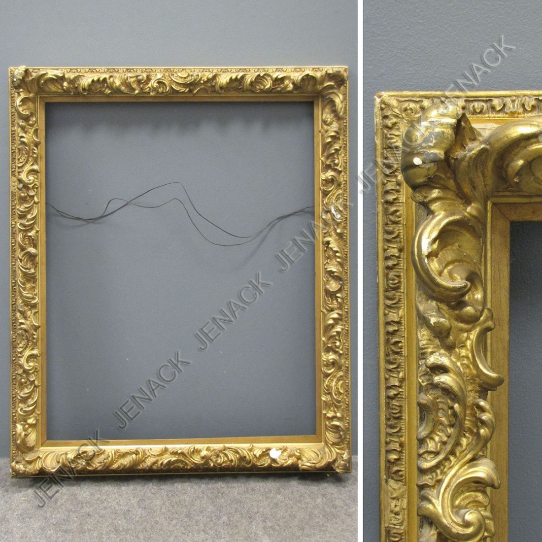 8: FRENCH STYLE CARVED AND GILT FRAME