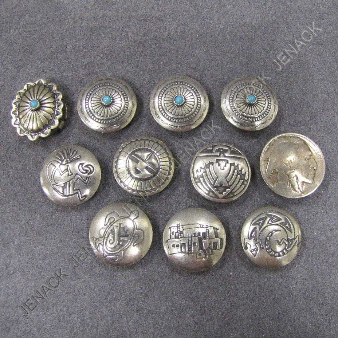 17: LOT (10) BUTTON COVERS