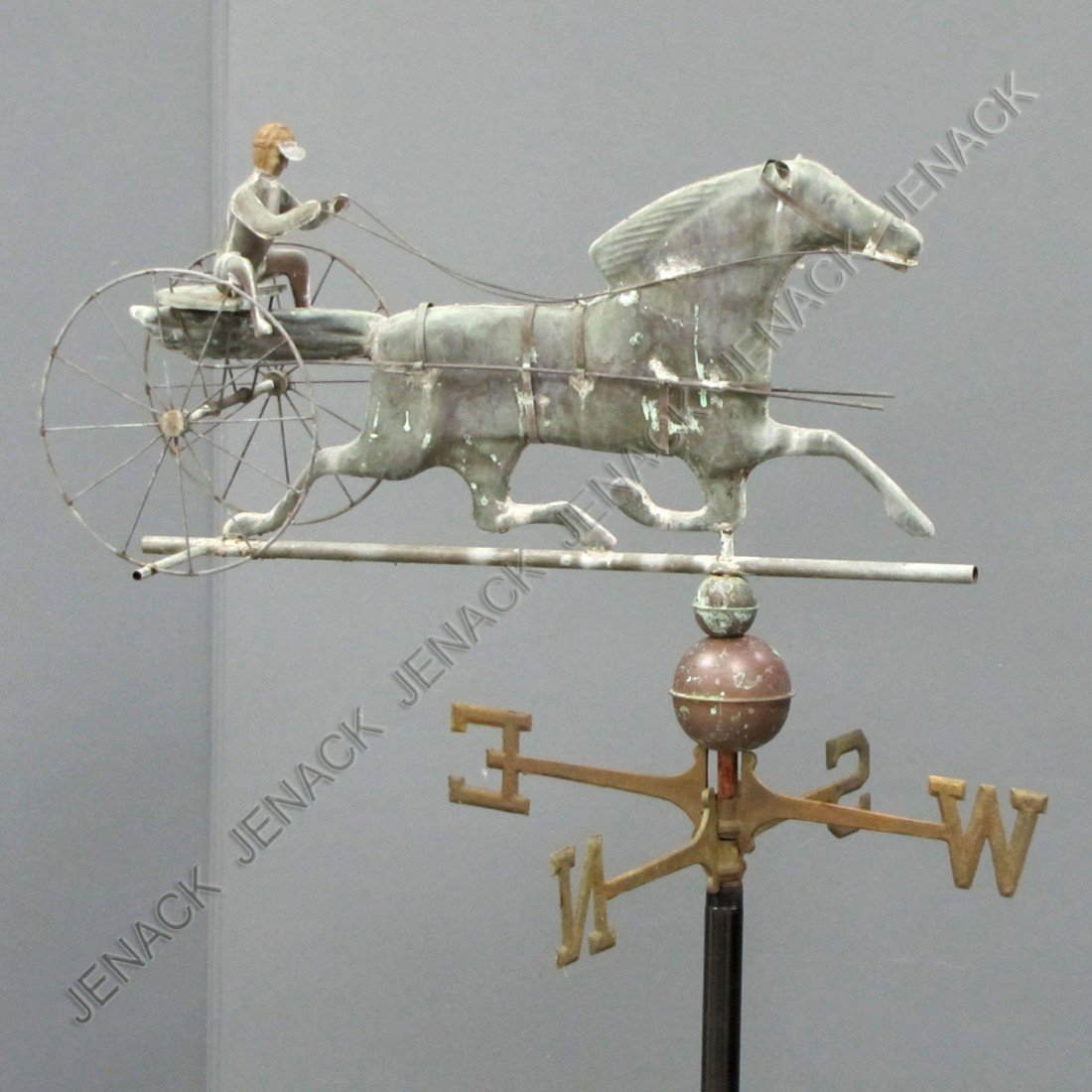 19: COPPER TROTTER AND SULKY WEATHER VANE