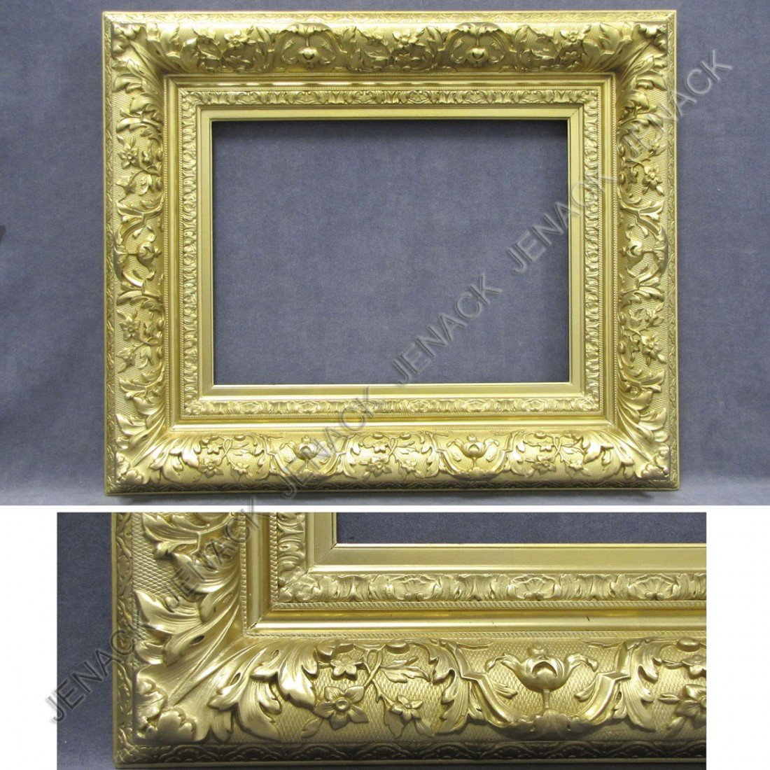 24: EUROPEAN NEO CLASSICAL CARVED AND GILT FRAME