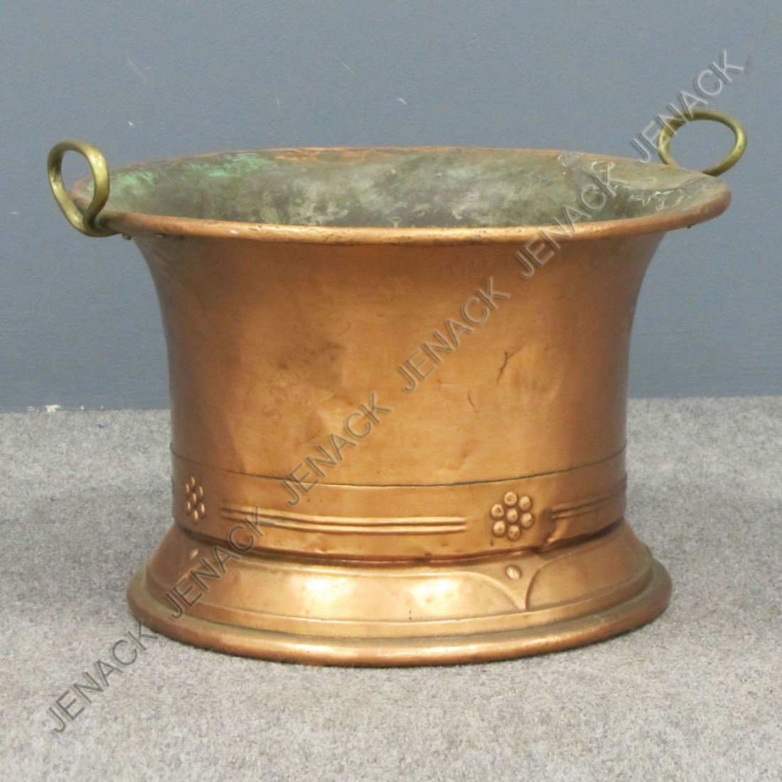 4: ENGLISH ARTS AND CRAFTS HAMMERED COPPER PLANTER