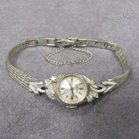 LECOULTRE 14K GOLD AND DIAMOND LADY'S WATCH HEAD