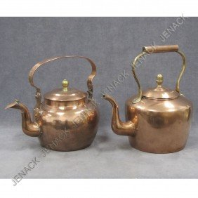 LOT (2) COPPER KETTLES, 19TH CENTURY