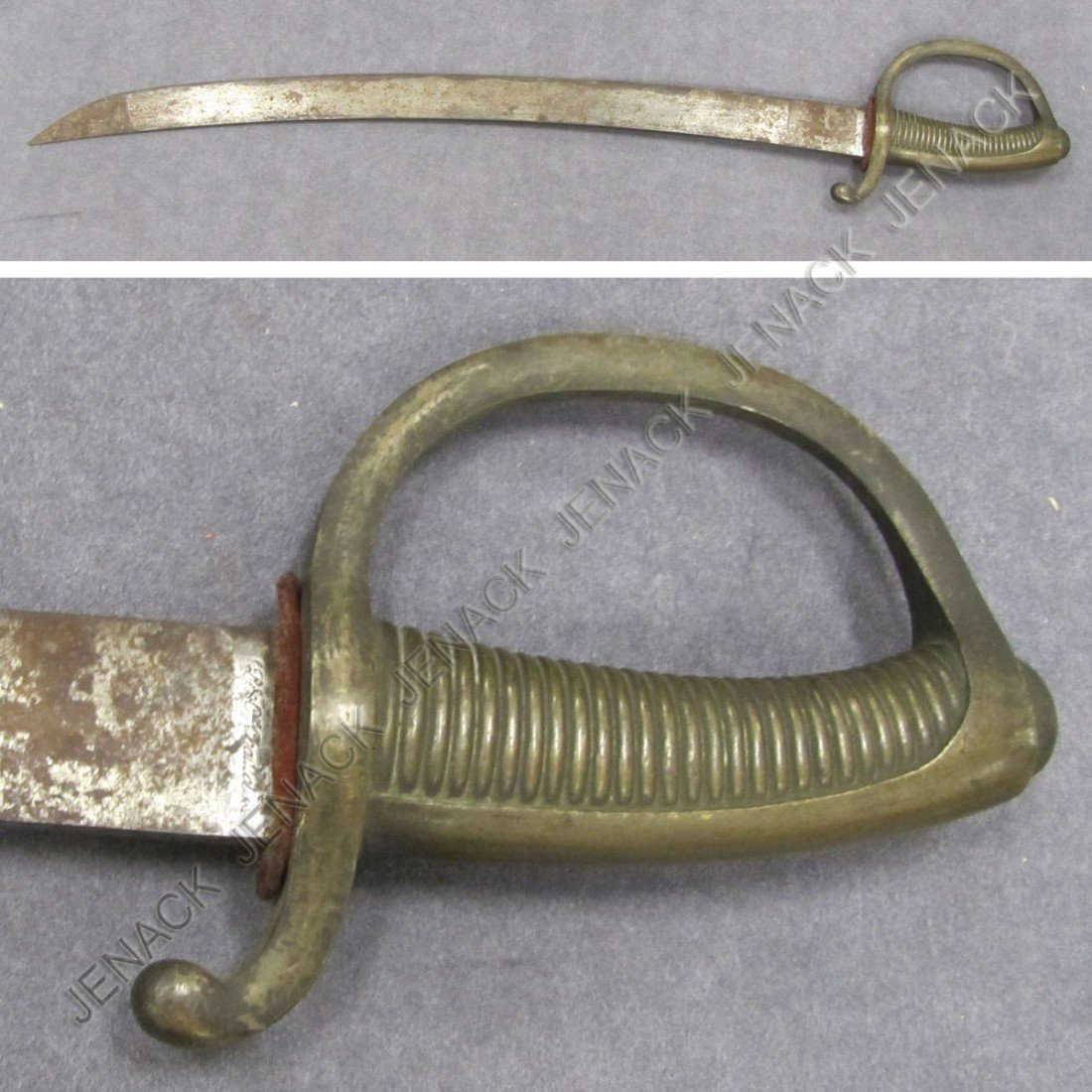 2: FRENCH ARTILLERY SABER, SIGNED 19TH CENTURY