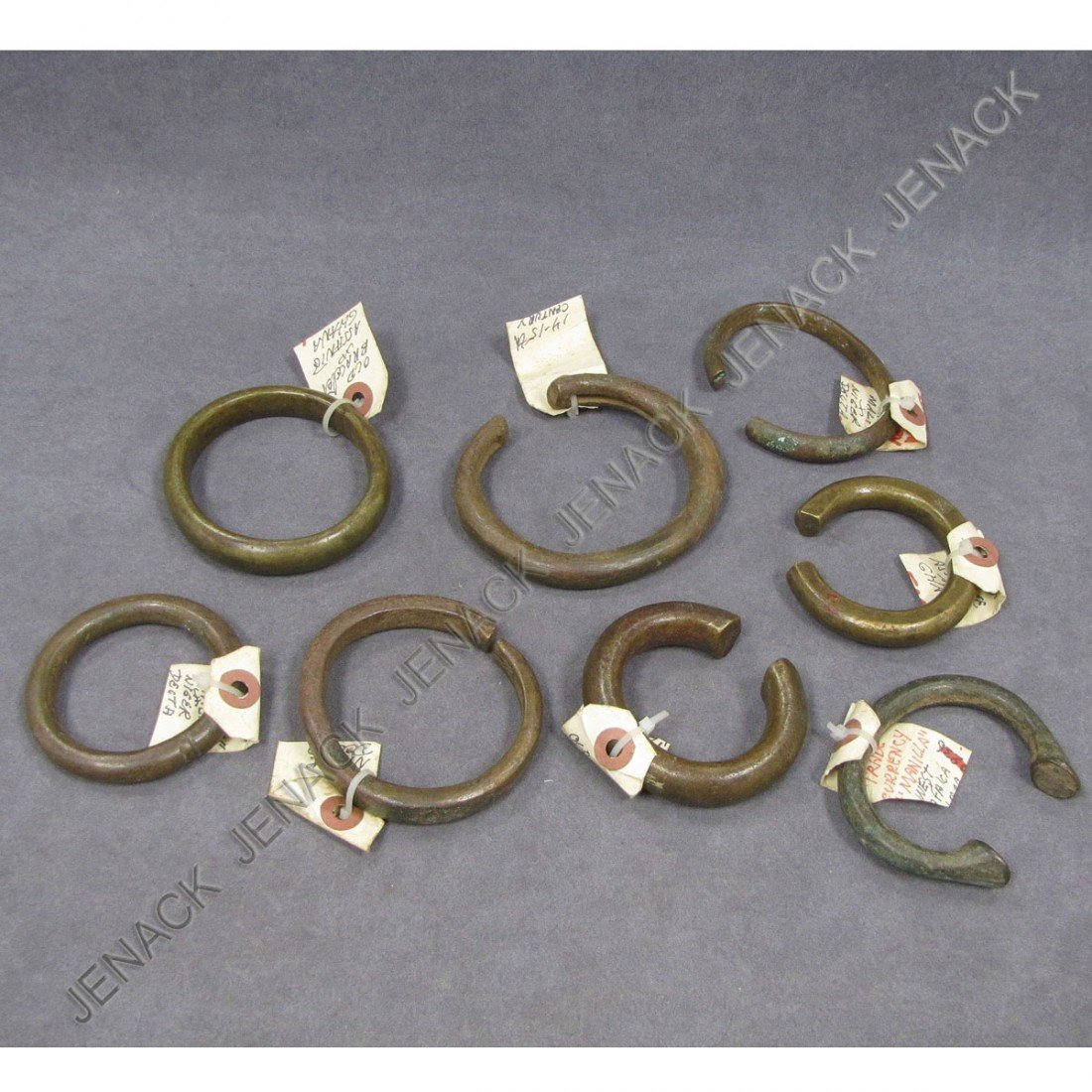 5: LOT (8) AFRICAN BRONZE AND COPPER BRACELETS