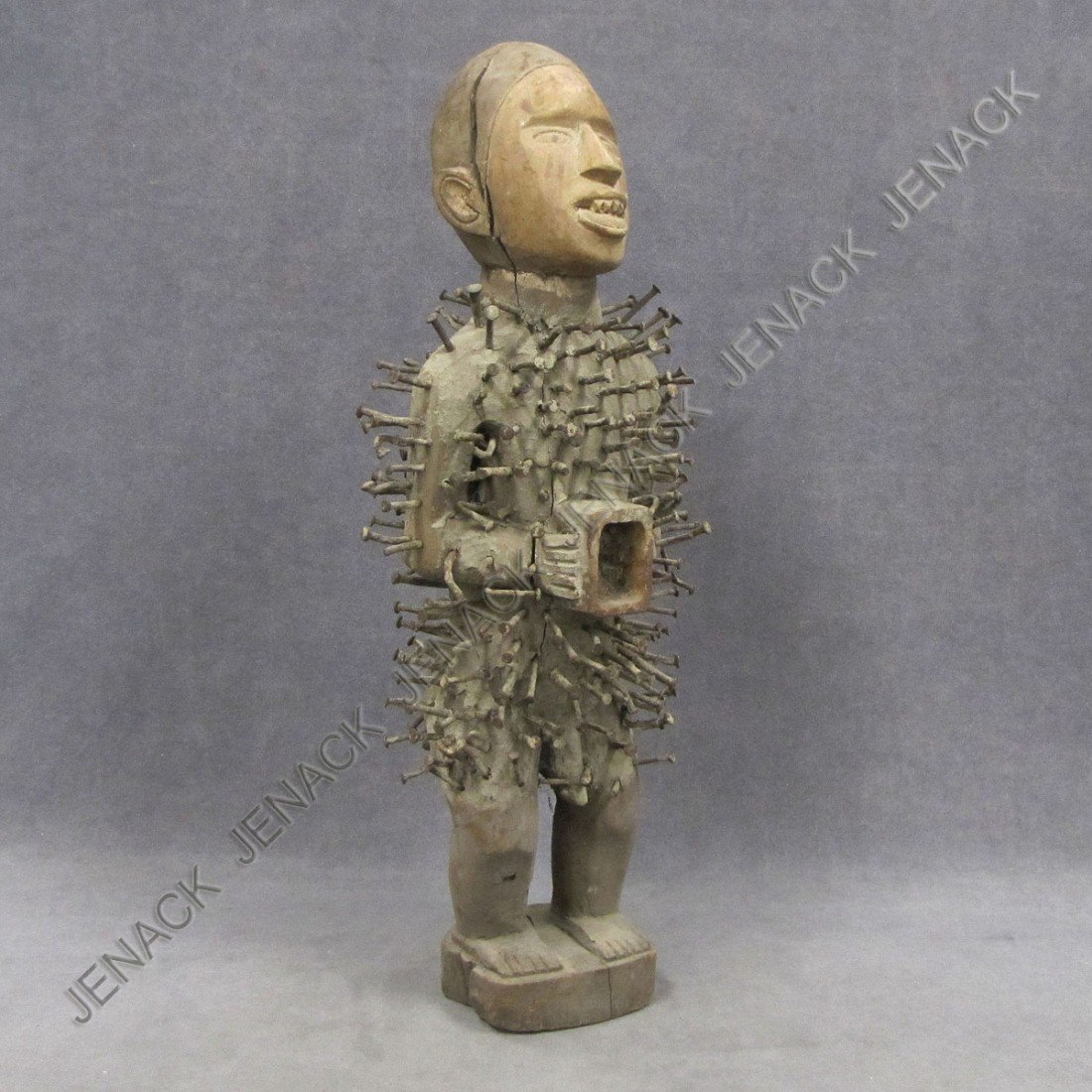 7: YOMBE CARVED POWER FIGURE
