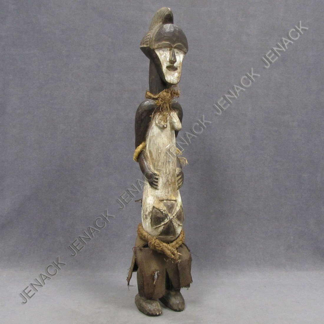 15: BAMBARA CARVED AND PAINTED MATERNITY FIGURE