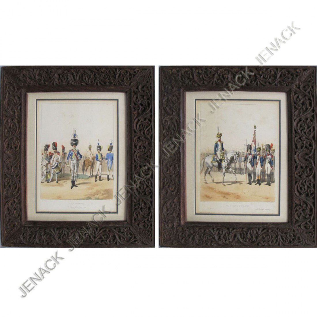 10: LOT (2) FRENCH MILITARY LITHOGRAPHS
