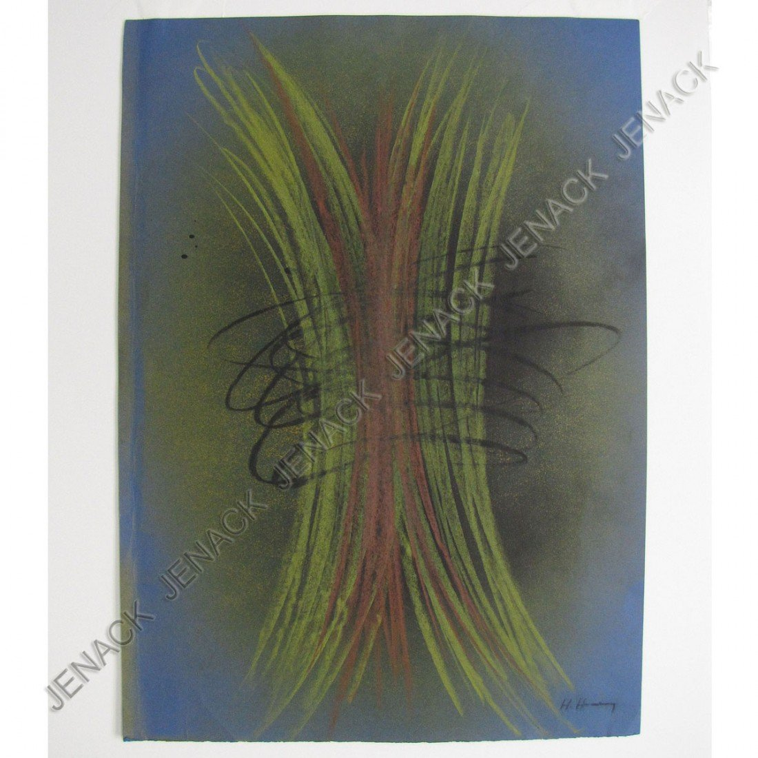 21: HANS HARTUNG (FRENCH 1904-1989), COLORED CRAYON