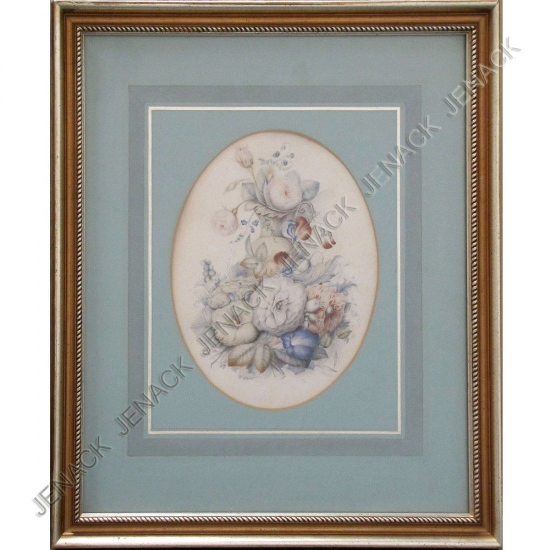 24: FRENCH SCHOOL (19TH CENTURY) WATERCOLOR, FLORAL