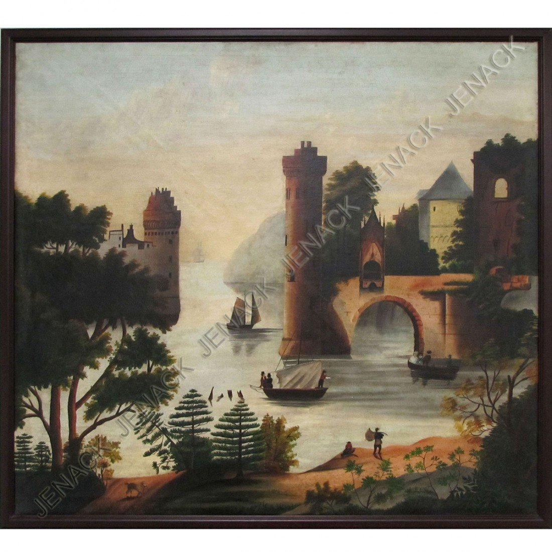 103: THOMAS CHAMBERS (AMERICAN 1808-1866) OIL ON CANVAS