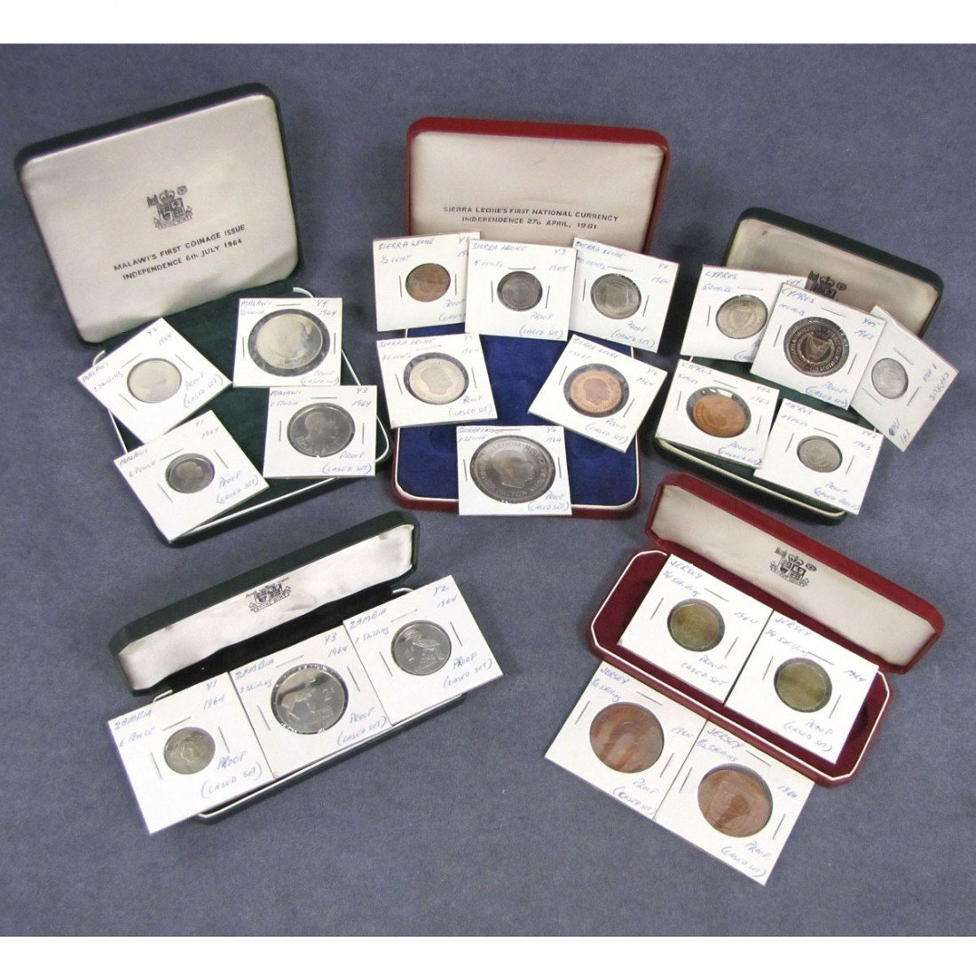 1: LOT (5) ASSORTED PROOF SETS INCLUDING 1963 CYPRUS