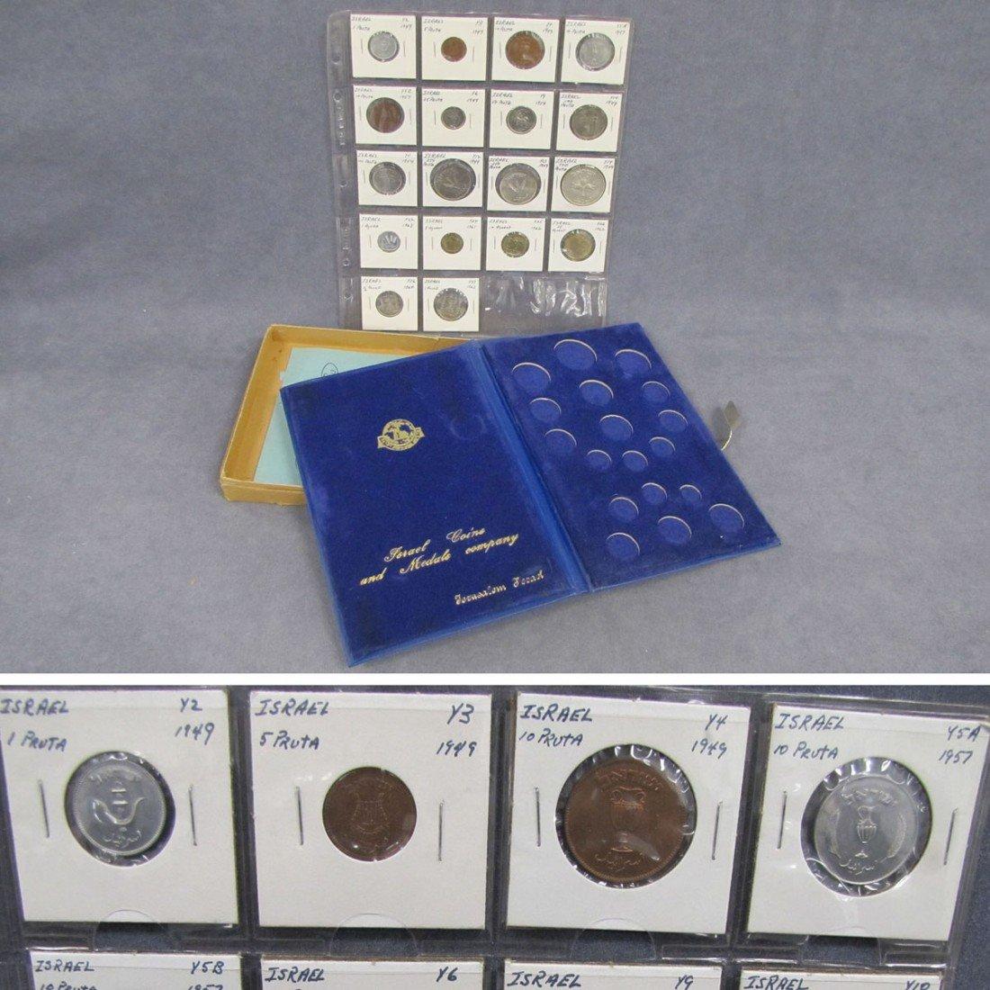 8: LOT (18) ISRAEL 1963 MINT COIN SET (UNC)