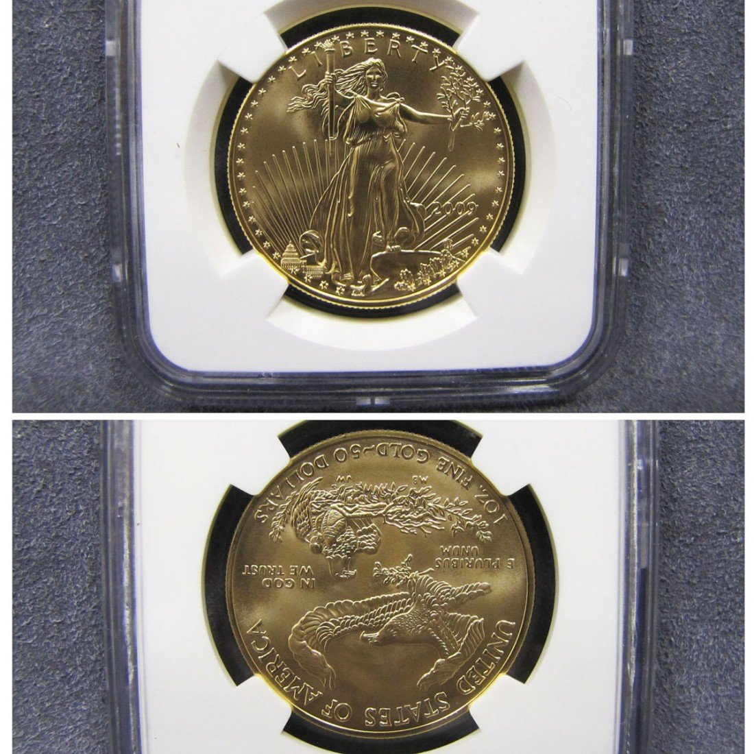 9: 2009 U.S. GOLD $50.00 EAGLE COIN, NGC (MS 70)