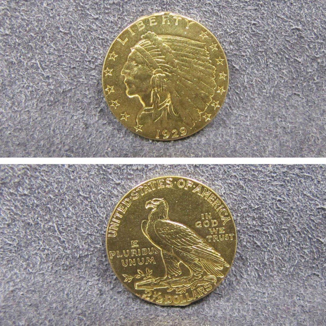 18: 1929 U.S. INDIAN HEAD GOLD QUARTER EAGLE COIN