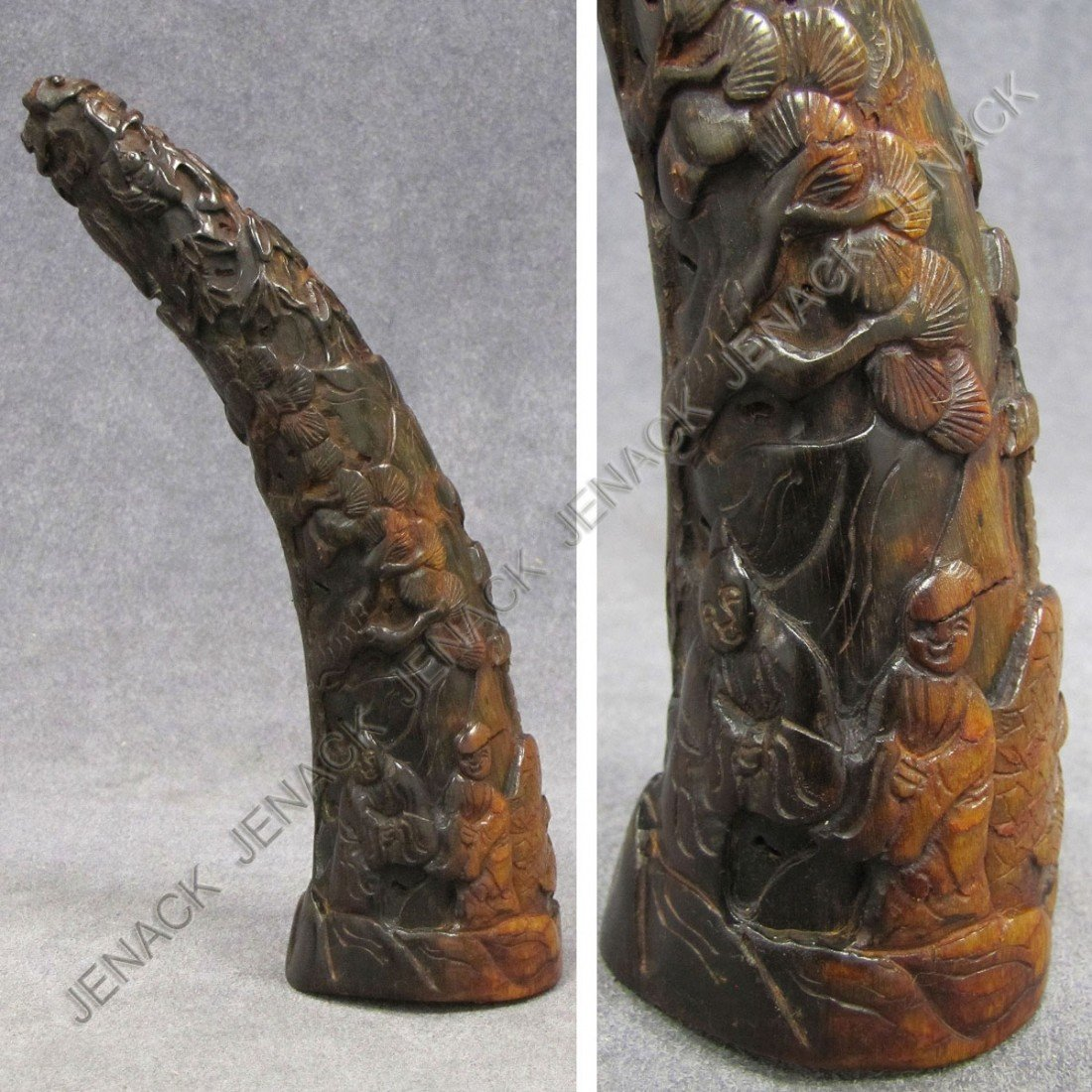 5: CHINESE CARVED HORN