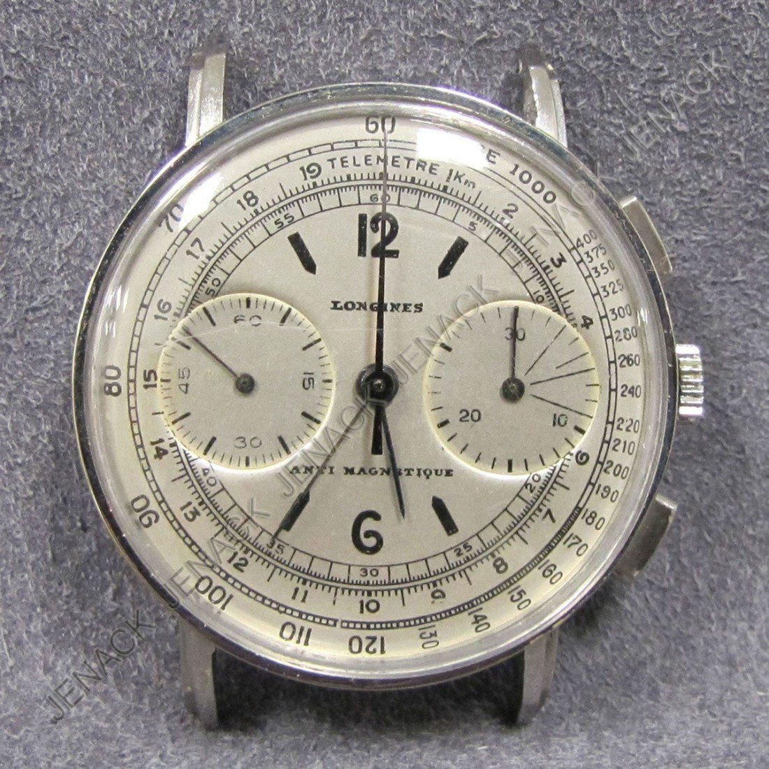 378: VINTAGE LONGINES STAINLESS STEEL CHRONOGRAPH