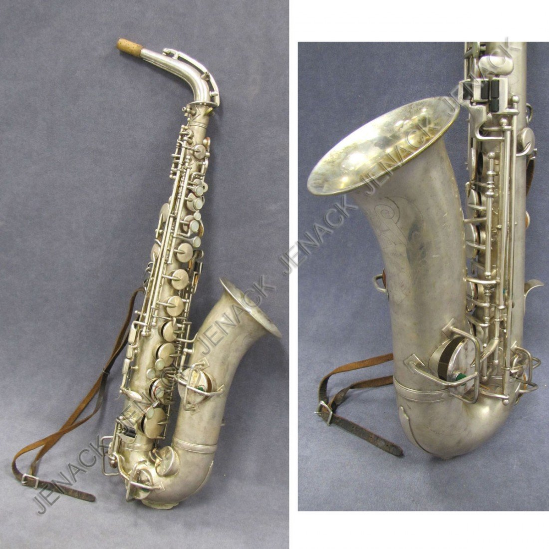 15: KING (H.N. WHITE) SILVER PLATED LOW PITCH SAX