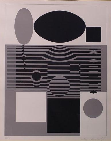 1286: LITHOGRAPH WITH COLOR, VICTOR VASARELY