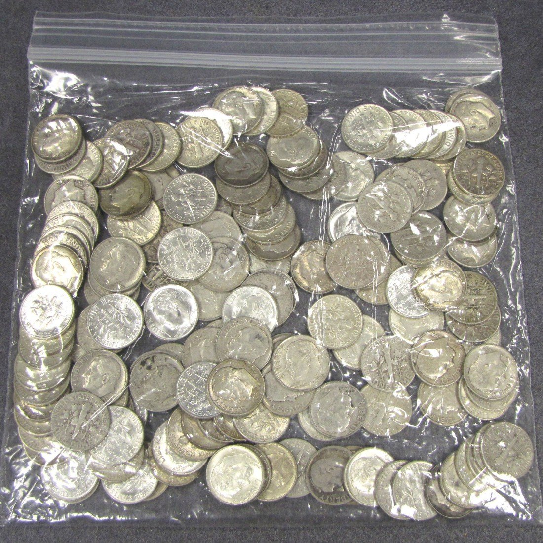3: LOT APPROXIMATELY (150) ROOSEVELT SILVER DIMES