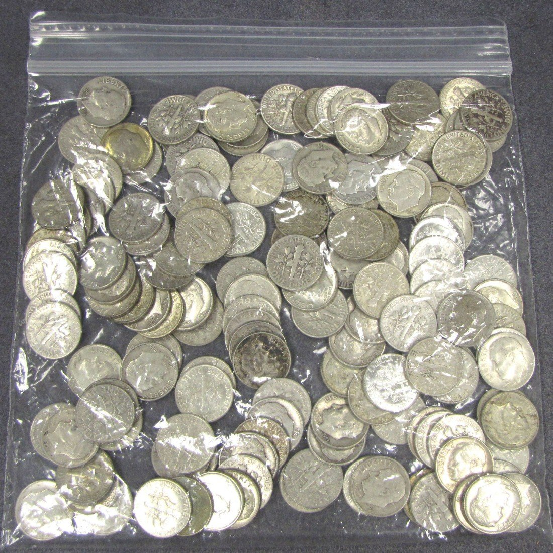 7: LOT APPROXIMATELY (150) ROOSEVELT SILVER DIMES